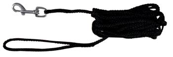 Sleeplijn zwart 5 mtr -  - Kwispel Korting