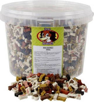 Pet Snack Mix Bones 3500 gr. -  - Kwispel Korting