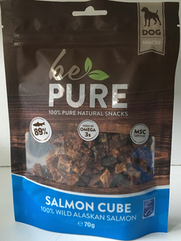 Be Pure Dog Salmon Cubes -  - Kwispel Korting