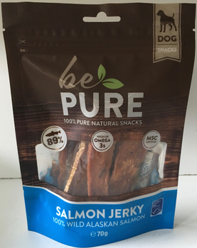 Be Pure Dog Salmon Jerky -  - Kwispel Korting
