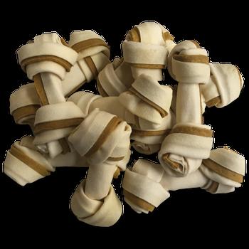 Buffelhuid knoop met kip 10 stuks ca. 12 cm -  - Kwispel Korting