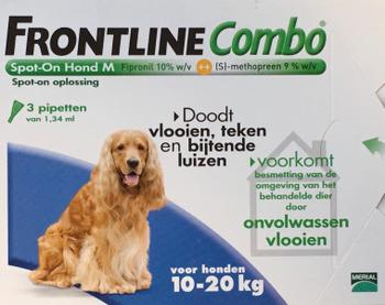 Frontline Combo Spot-On Hond M 3 pipetten -  - Kwispel Korting