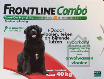 Frontline Combo Spot-On Hond XL 3 pipetten -  - Kwispel Korting