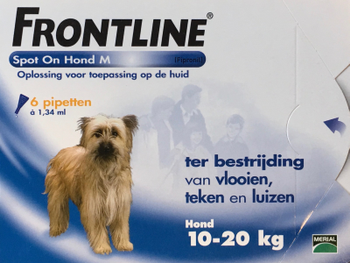 Frontline Spot On Hond M 6 pipetten -  - Kwispel Korting