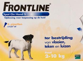 Frontline Spot On Hond S 6 pipetten -  - Diergigant Shop