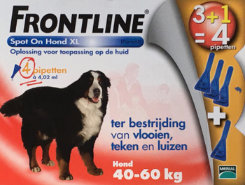 Frontline Spot On Hond XL 4 pipetten -  - Kwispel Korting