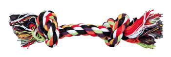 Speelse gebitsverzorging van TRIXIE: Het kauwen op een touw en ander speciaal gevormd speelgoed helpt, om de tanden schoon te houden en draagt tevens bij aan een gezond gebit. Met een flostouw kun je ook lekker actief aan de gang met apporteeroefeningen. Materiaal: Katoenmengsel. De flostouwen worden geleverd in diverse vrolijke kleurcombinaties.