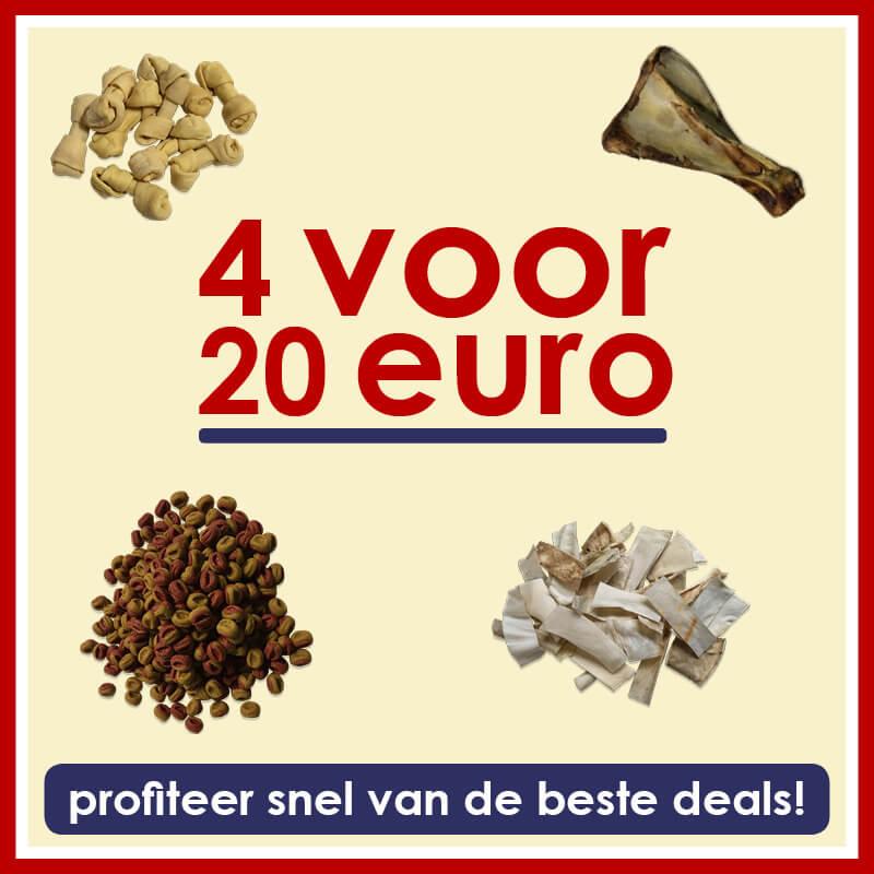 Profiteer nu, 4 voor 20 euro!