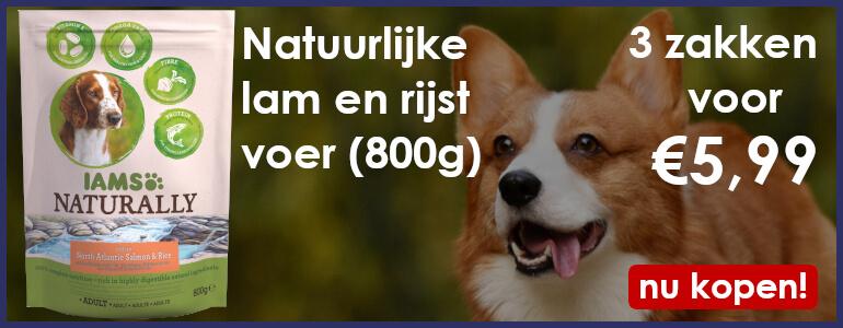iams naturally 800g 3 zakken voor €5,99