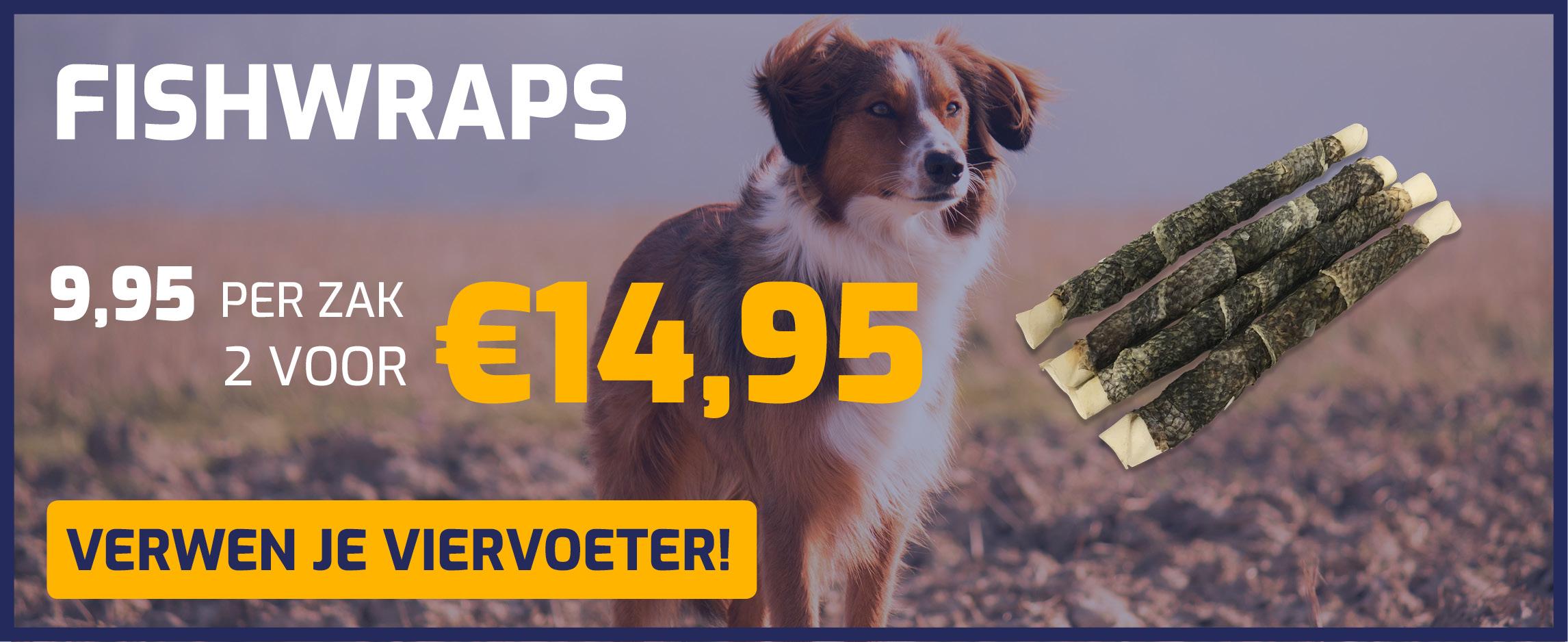Fishwraps, nu 2 zakken voor €14,95!