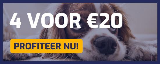 Profiteer van onze 4 voor €20 aanbiedingen!
