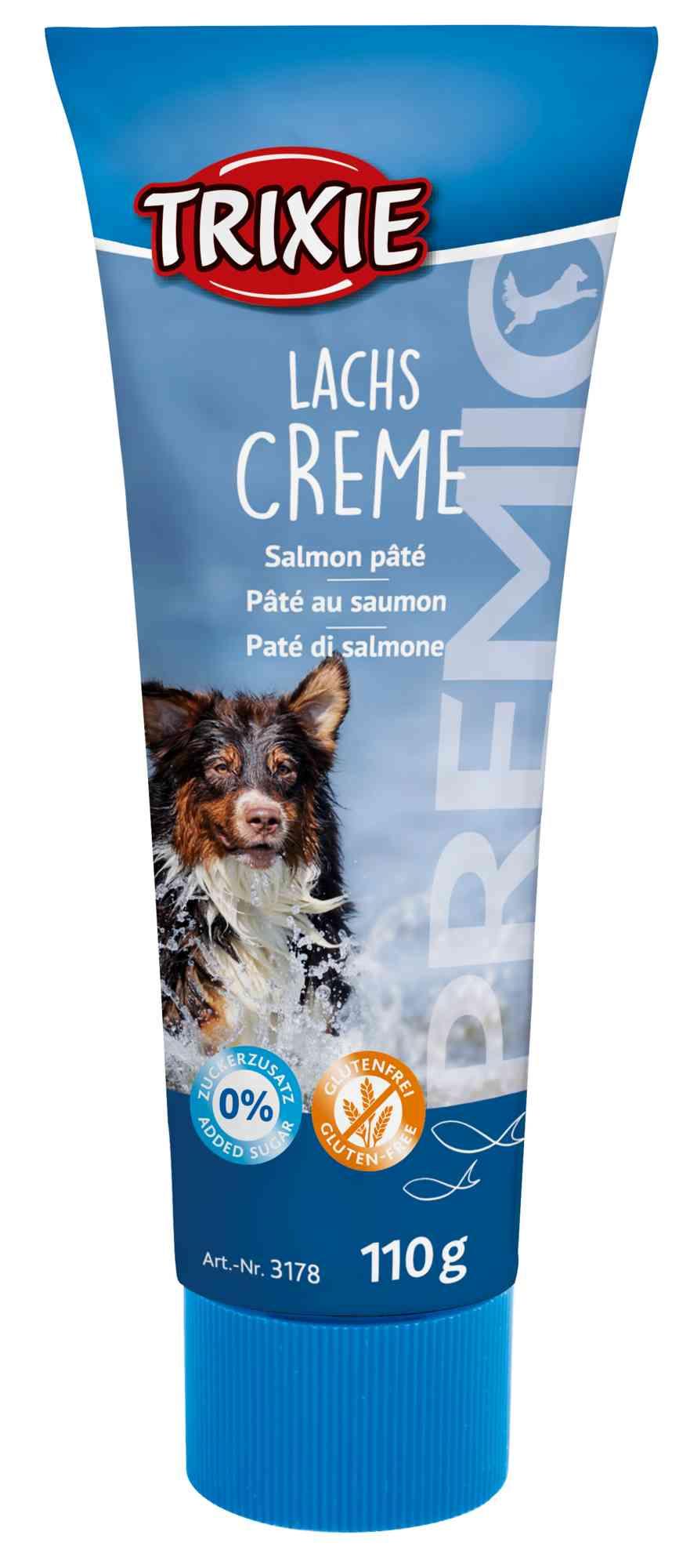 PREMIO Zalmpasta groot beloningseffectmaakt het geven van medicijnen makkelijker Honden zijn hier echt dol op en zullen nog beter hun best doen voor deze beloning!