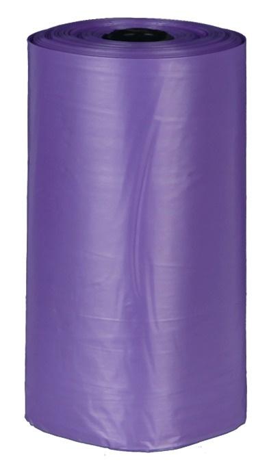 kunststof voor alle poepzakjes dispensers 4 rollen a 20 zakjes kleur lila