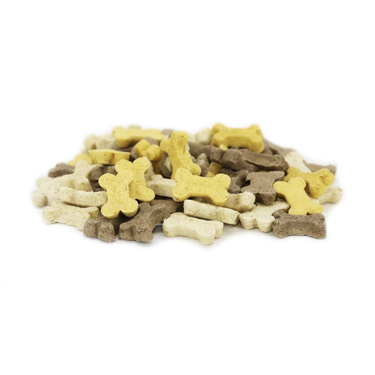 Inimini Puppymix. Hondenkoekjes zijn een heerlijke en gezonde tractatie als beloning tijdens de training of gewoon als tussendoortje. Diergigant-shop heeft een leuk assortiment hondenkoekjes voor elk formaat hond en uiteraard verkopen we ook de hondenkoekjes voor gigantisch lage prijzen.