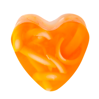 Natural Handmade Heartsoap Mandarin