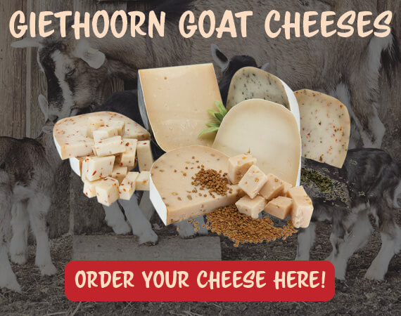 Giethoorn Goat Cheese, shipping worldwide!
