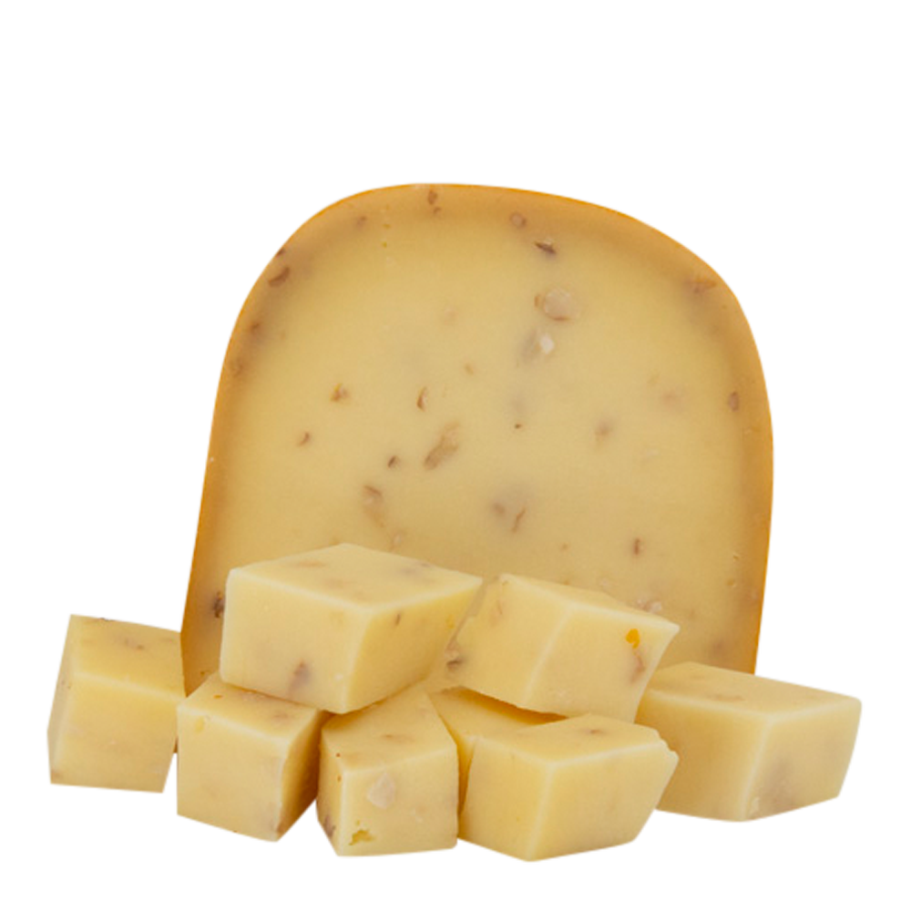 Creamy Cow's Milk Cheese with Walnuts.